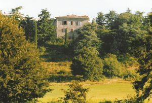 Monte Pecorone, Umbrien, Italien. Schöner Landsitz auf einem Hügel. Das war die Heimat des TheaterLabors von 1986 bis 1991