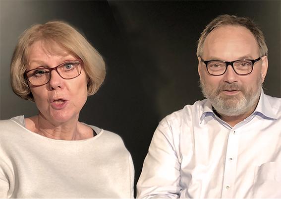 """Sigrid Abendroth und Marc Dauenhauer, szenische Lesung """"Alte Liebe"""""""