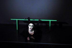 1. Szene, Leonce und Lena von G. Büchner. Belgin als Valerio. Sie ist Teilnehmerin des Schauspielunterrichts Düsseldorf