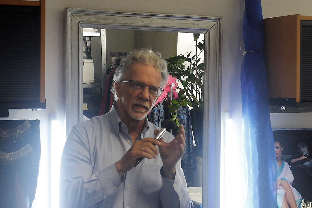 Gianni Sarto in seiner Maskenwerkstatt