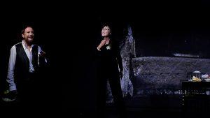 Szene aus dr Tor und der Tod mit Wolfgang Keuter und Sigrid Abendroth