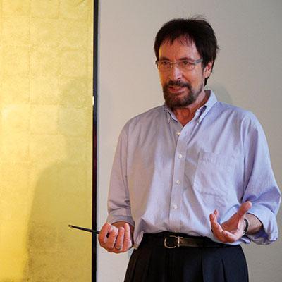 Wolfgang Keuter vom Theater Labor bei einem Workshop